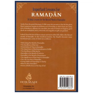 Important Lessons For RAMADAN – Abdur-Razzaq Al-Abbad