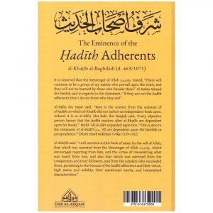 THE EMINENCE OF THE HADITH ADHERENTS – Al-Khatib Al-Baghdadi (d. 463/1071)