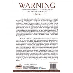 Warning Those of Little Sense Against Attacking the Scholars of Eminence – Abdullah al-Najmi