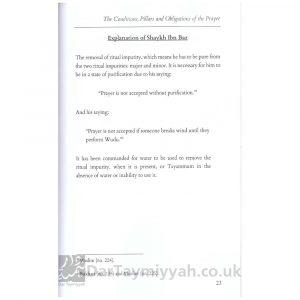 Explanation of The Conditions, Pillars and Obligations of the Prayer by Shaykhul Islam Muhammad Bin Abdul Wahab Shaikh Abdul Aziz Bin Baz with additional commentary from the works of Shaykh Muhammad Bin Salih al-Uthaymin